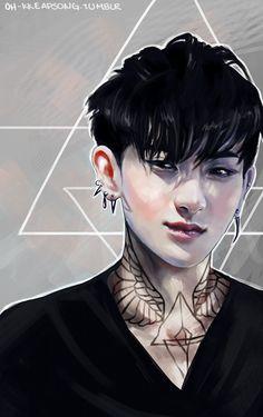ink by ohsh on DeviantArt ► EXO Exo Fanart, Exo Anime, Tao Exo, Exo Chanyeol, Huang Zi Tao, Cartoon Sketches, Kung Fu Panda, Star Sky, Disney Fan Art