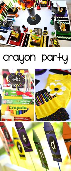 Crayon Birthday Party by Lindi Haws of Love The Day