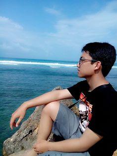 Staring at far away