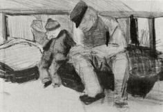 Man and Boy Sitting under a Roof. 1882. Vincent van Gogh: The Drawings