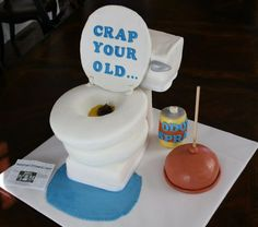 Funny Homemade Toilet Cake 60th birthday cakes Birthday cakes and