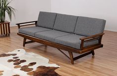 Reupholstered Mid Century Modern Bowed Sofa by FurnishMeVintage, $1850.00