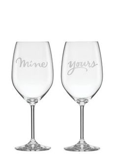 two of a kind yours and mine wine glasses - kate spade new york