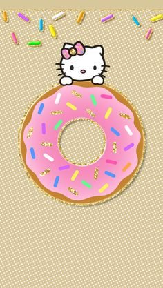 240 Best Hello Kitty Donut Party Images Bricolage Donut Party