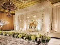 Wedding decorations indoor indonesia beautiful ideas for 2019 Wedding Stage Decorations, Backdrop Decorations, Backdrops, Backdrop Design, Wedding Mandap, Wedding Ceremony, Wedding Venues, Ceremony Backdrop, Wedding Dresses