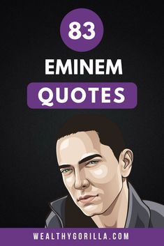 There's no doubt about it, Eminem is a lyrical genius. These are definitely the greatest Eminem quotes and lyrics of all time. If you love rap quotes, and rapper quotes, or musician quotes then you'll love these mindset quotes from eminem. Musician Quotes, Actor Quotes, Rapper Quotes, Millionaire Lifestyle, Millionaire Quotes, Inspirational Quotes Pictures, Motivational Quotes For Life, Success Quotes, Motivation Quotes