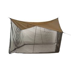 Sol 72 Outdoor The Bucksport Tarpaulin Tent combines two functions: it can either be a hammock tarp thanks to its special three-way zips or else function as a tarp with roll-up mosquito net, making it suitable for any outdoor camp. Comes with additional zips for entry and exit points. Adjustable snap hooks and 8 aluminium Y-pegs are included. Suitable for many hammocks. Supplied separately from the hammock. Hammock Tarp, Tent Tarp, Hammocks, Tent Camping, Outdoor Camping, 5 Person Tent, Outdoor Zelt, Camping Shelters, Wall Tent