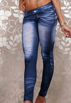 $10 Stylish Tattoo Graffiti Print Mid-Waisted Women's Jean Leggings Leggings | RoseGal.com Mobile