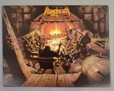 Rodney Matthews On a Story Teller's Night Magnus album cover art 1985 Fantasy Town, Fantasy Forest, Tolkien, Cover Art, Heavy Metal, Shops, Great Albums, Progressive Rock, Science Fiction Art