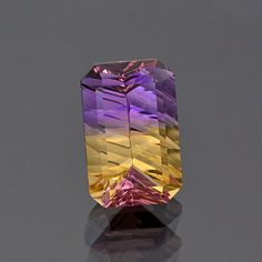 Excellent Concave Ametrine Gemstone from Bolivia 12.83 cts.