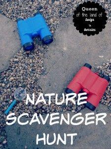 Nature Scavenger Hunt - www.queenofthelandoftwigsnberries.com