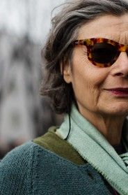 She is beautiful and NOT 22. Thank you Sartorialist for finding beauty & style outside of one decade. Renata Molho, Milan
