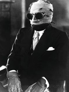 Claude Rains / Jack Griffin - The Invisible Man, 1933 Horror Books, Horror Films, Scary Movies, Old Movies, Horror Movie Costumes, Monster Horror Movies, Hollywood Monsters, Claude Rains, Monster Costumes