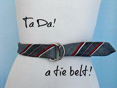 Belt from an Old Tie #diy #belt #fashion