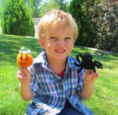 Halloween Finger Puppets decorations trick or by DeeDeesDetails, $12.99