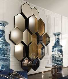 30 Chic Home Design Ideas – European interiors. 56 Perfect Home Decor Ideas That Will Make Your Home Look Fantastic – 30 Chic Home Design Ideas – European interiors. Interior Walls, Decor Interior Design, Interior Decorating, Decoration Design, Modern Interior, Wall Design, House Design, Wall Mirror Design, Design Design