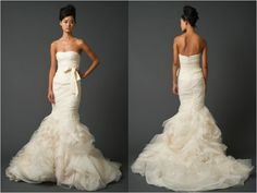 Strapless sweetheart mermaid gown by Vera Wang