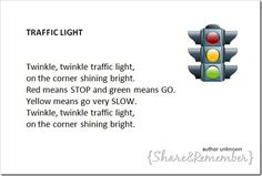 Traffic Light Prop/Puppet & Song Card Printable