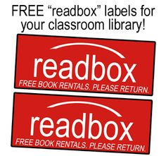 FREE Classroom Library Readbox Labels - Adorable idea!!!