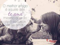 O melhor amigo é aquele que te ama mesmo quando você esquece de amar! #amizade #melhoramigo #mensagenscomamor