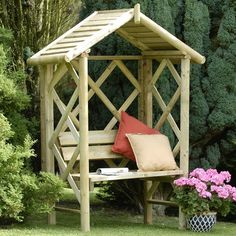 Cottage Garden Ideas Houses | Cottage Haven Arbour - Wooden Garden Arbour | Internet Gardener