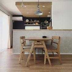 お気に入りのテーブル/テーブル/ダイニングテーブル/キッチンカウンター/unico ダイニングテーブル/キッチン背面についてのインテリア実例。 「お気に入りのテーブル...」 (2019-06-08 13:03:57に共有されました) Kitchen Cabinet Storage, Storage Cabinets, Kitchen Cabinets, Kitchen Dinning Room, Dining, Wood Wallpaper, Wood Ceilings, Brown Wood, My Dream Home