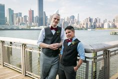 Michael (left) and Jace McComiskey on the day of their wedding.