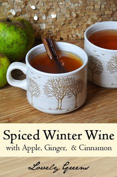 Hot Spiced Winter Wine with Apple juice, Ginger, Cinnamon and Honey - Warm you and loved ones up with this Seasonal drink! #drinks