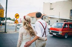 City wedding. Bohemian wedding. Wedding dress. Lace wedding dress. Flowercrown.