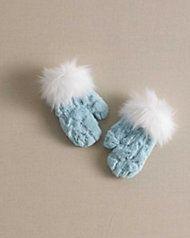 disney frozen fur mittens