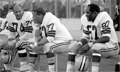 Packer Veterans, Henry Jordan, Ron Kostelnik, and Willie Davis during a game on July 26, 1968. The heaviest players on the Pacers' roster for Super Bowl I weighed 260 pounds. When training camps began in 2010, 532 N.F.L. players weighed in at over 300 pounds. (Photo: Associated Press)