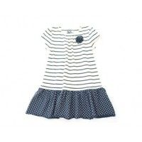 Kite Kids Organic Cotton Nautical Spot and Stripe Dress £13.95