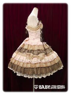 Side ジャンパースカート/Dot Millefeuille jumper skirt ピンク×マロン×チョコレート Pink x Marron x Chocolate Lolita Baby the Stars Shine Bright