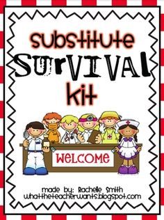 This Substitute Survival Kit will help you plan for a substitute!*Sub Tub: Decorative tag and directions are included.*Substitute Binder:  ...