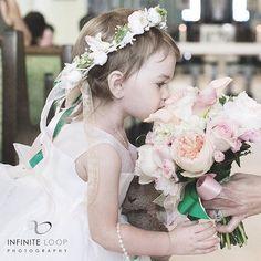 Stop And Smell The Roses #GoodMorning #Wedding #BeautifulWedding #FlowerGirl #WeddingPhotography