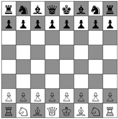 Chess board - diagram showing setting up layout