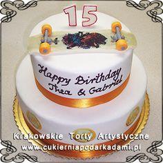 116. Tort na 15naste urodziny z deskorolką. Cake with skateboard.