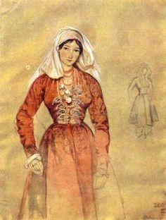 Grigory Gagarin. Portrait of Cossacks Women [Wikimedia Commons]