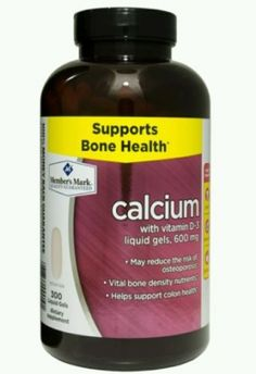 Calcium Supplement 600mg + Vitamin D3 (300 Liquid Gels) Bone Support Vitamins. Calcium is an essential mineral for healthy, normal bone formation, development, and structural health Vitamin D-3 helps the body absorb calcium and is known for it's beneficial effects on strong healthy bones.* Adequate Calcium and Vitamin D as part of a healthful diet, along with physical activity, may reduce the risk of osteoporosis in later life. Specifications Supports bone health* May reduce the risk of…