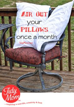 How to wash and care for your pillows at TidyMom.net #tidymom