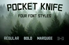 Pocket Knife - Font in Four Styles by Blue Line Design on Creative Market