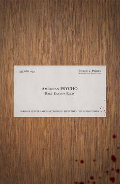 American Psycho (2000) ~ Minimal Movie Poster by Alex Colbourne #amusementphile