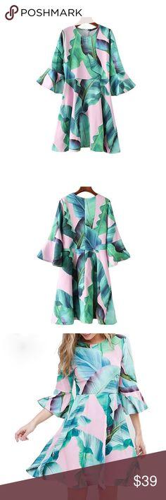 Spotted while shopping on Poshmark: Dress with Flare Sleeves! #poshmark #fashion #shopping #style #Dresses & Skirts