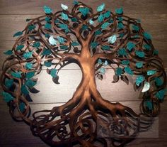 Infinitytree of Life Wall Decor Metal Tree Art With Green Pearl ...