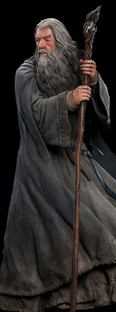 Gandalf the Grey Hobbit An Unexpected Journey, Life Size Statues, Full Frontal, Gandalf, The Hobbit, Solar, Grey, Ash, Gray