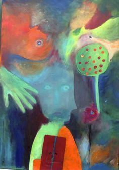 Marc Chagall stand hier Pate. Traumbild in wunderschönen Farben und weichen Übergängen. #kreativmanufaktur