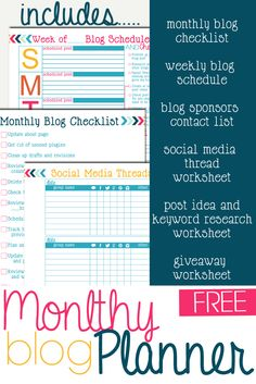 My friend created a blog planner and is giving it away for free to help other bloggers become better organized. Check it out! :D