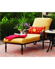 1000 images about outdoor chaise lounges on pinterest for Better homes and gardens hillcrest outdoor chaise lounge