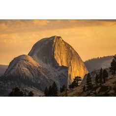 Half Dome at sunset during the Meadow Fire as seen from near Olmsted Point along the Tioga Pass Road in Yosemite National Park California United States of America Canvas Art - Tracy Barbutes Design P