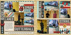 Layout: Family Bowling by Kraezd70 Template: Photo and Stripes Templates Reason CTM Loves: I love all the title strips. It really brings your eye around the page so you catch all the fun photos. It also really captures what is going on...it makes me want to go bowling.